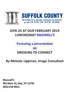 FEBRUARY 2019 LUNCHEON AT MAXWELL'S
