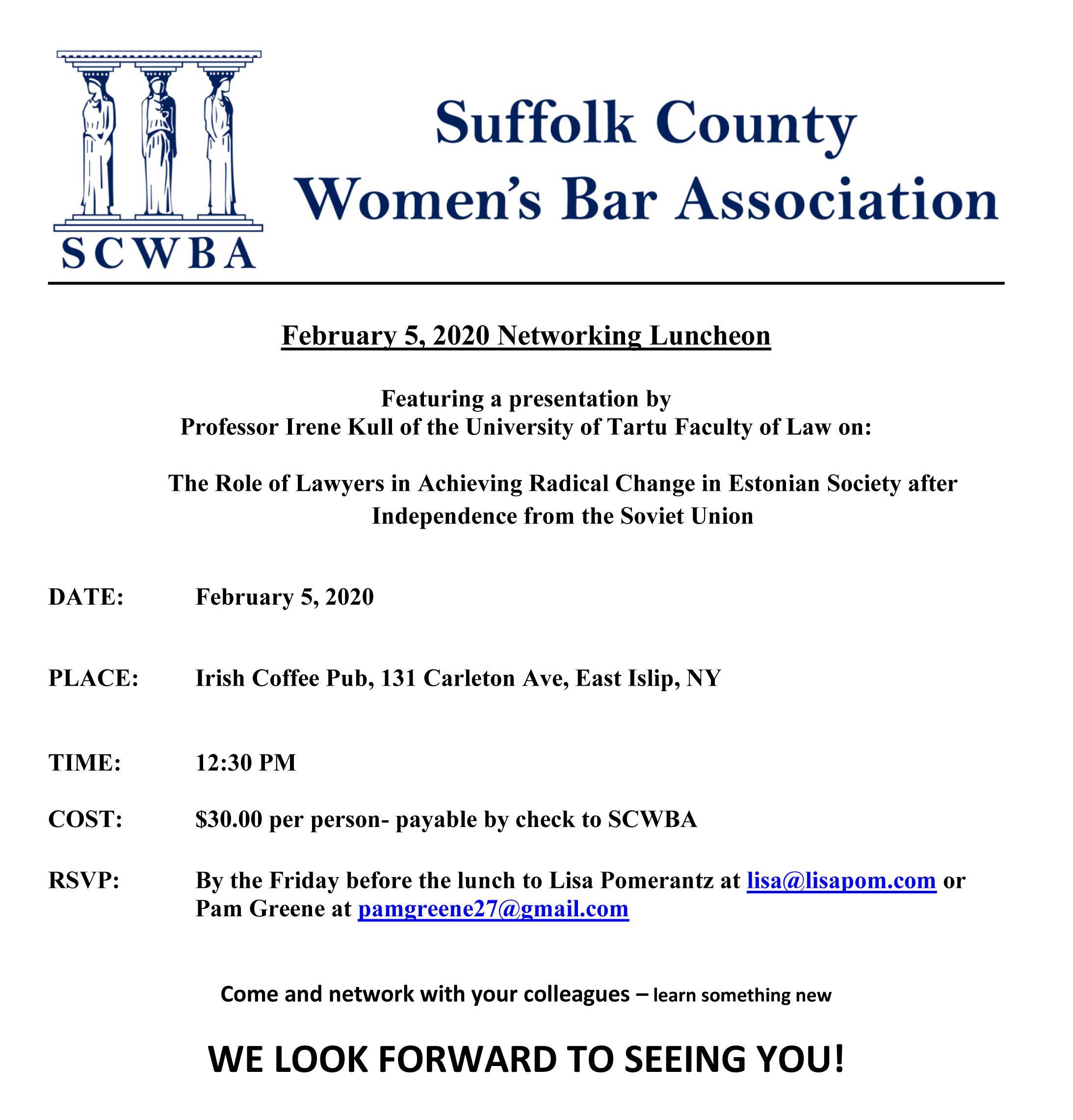 Suffolk County Women's Bar Association @ Suffolk County Women's Bar Association